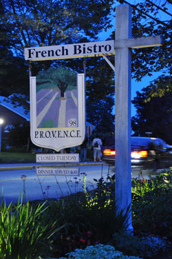 September 2009 Ogunquit's 98 Provence: Venez-vous ici souvent? Not nearly enough! Clipping fresh herbs from her lovely gardens as diners approach, Johanne Hazeltine is all Monet in her sun-dappled dress, […]<!-- AddThis Sharing Buttons below --><!-- AddThis Sharing Buttons below -->