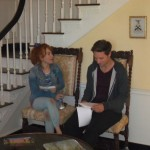 Maria Thayer and Michael Cassidy running lines