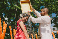A wedding–the perfect place for a colorful collision of cultures &