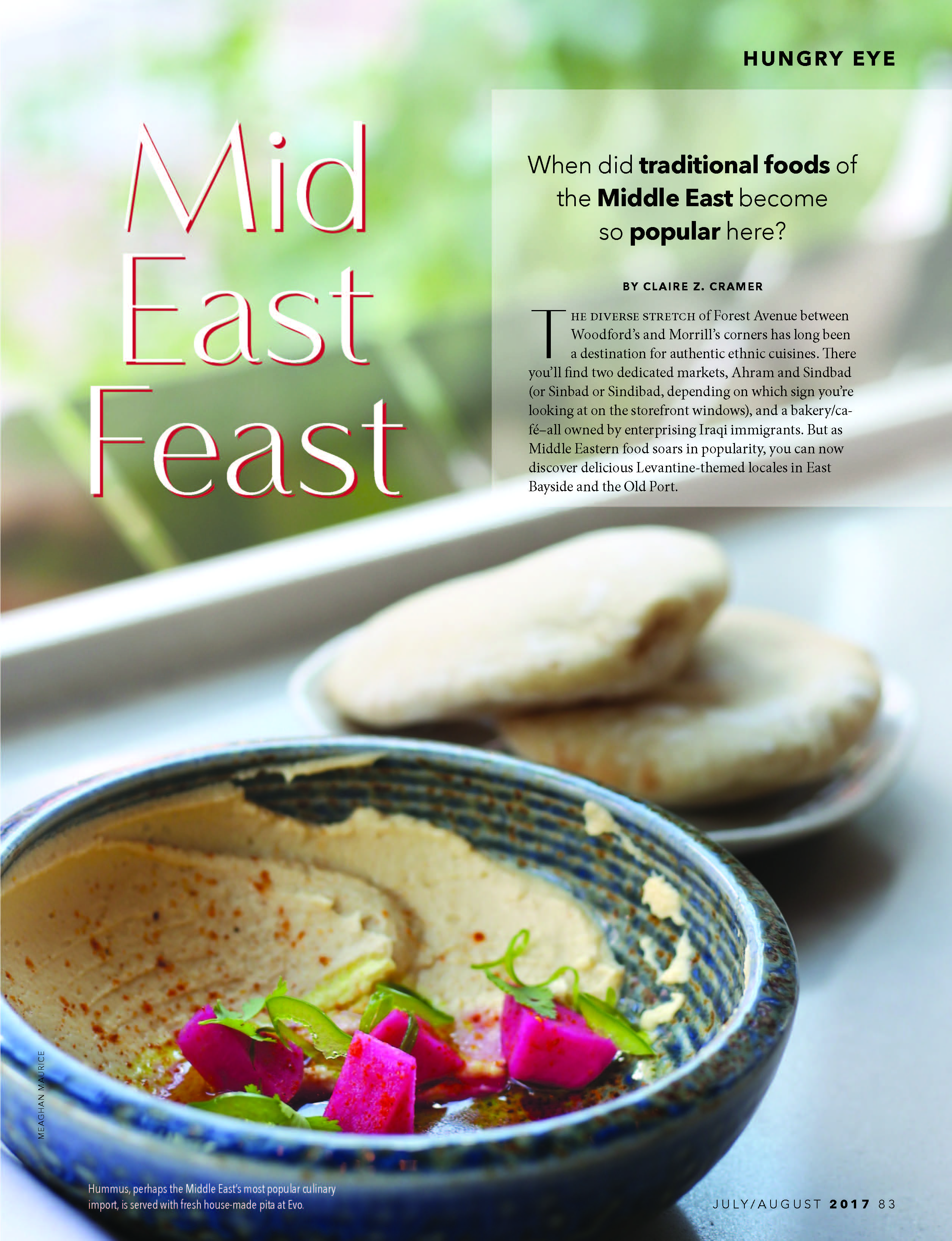 Mid East Feast - July/August Feature 2017